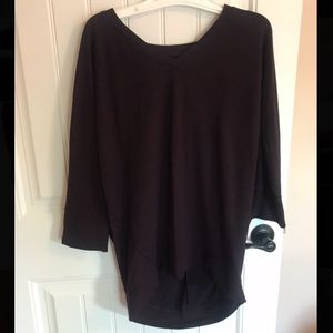 Old Navy Plum colored sweater 3/4 length sleeves